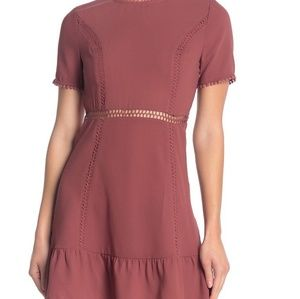 Moon river open back short sleeve dress